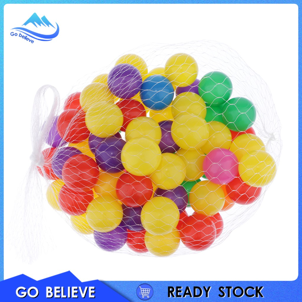 [Go believe] 100Pcs Colorful Ocean Ball Cultivate Cognition Soft Plastic Ocean Ball 5.5cm