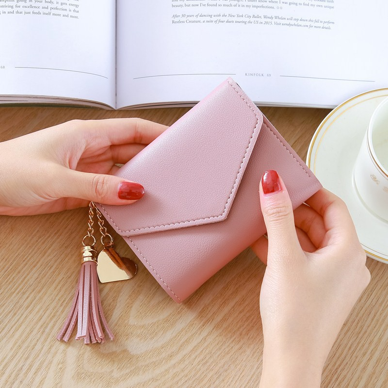 Ví nữ Dotime bóp cầm tay da nữ mini phong cách tiểu thư VN02