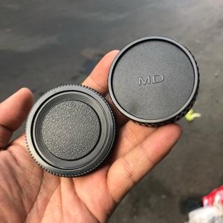 Bộ Cap (nắp) Body + Cap Đuôi Lens Máy Ảnh Phim Minolta MD thumbnail