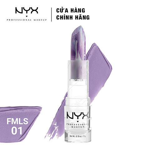 Son môi NYX Professional Makeup Faux Marble Lipstick FMLS01 Lilac 3g - 3446999 , 1274881933 , 322_1274881933 , 290000 , Son-moi-NYX-Professional-Makeup-Faux-Marble-Lipstick-FMLS01-Lilac-3g-322_1274881933 , shopee.vn , Son môi NYX Professional Makeup Faux Marble Lipstick FMLS01 Lilac 3g