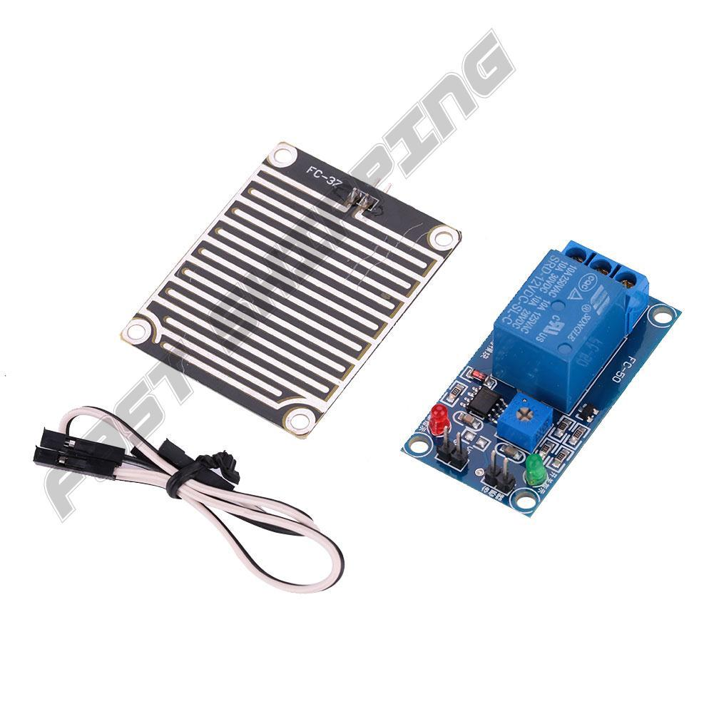 1Set 12V Raindrops Detection Module + Relay Switch Control Kit Automatic