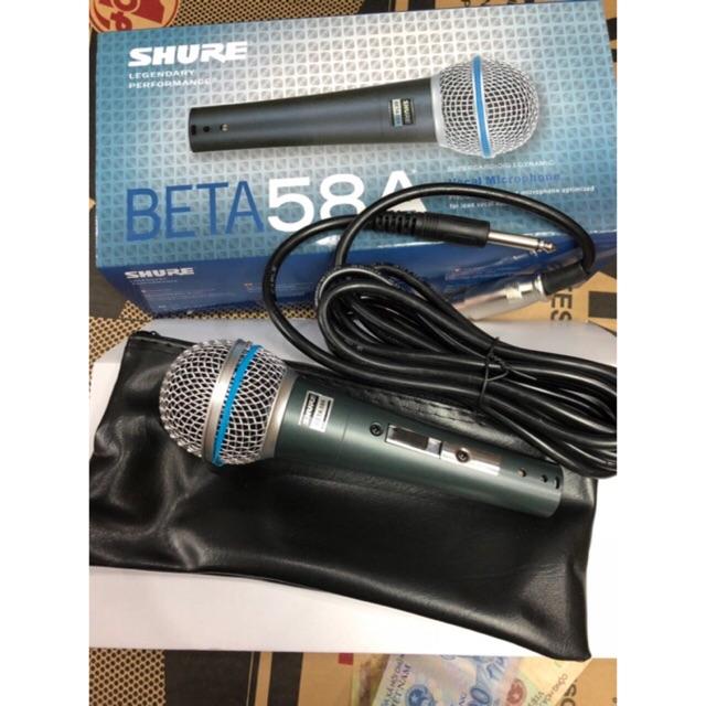 Micro hát karaoke có dây Beta 58A âm thanh đỉnh