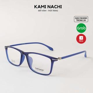Gọng kính thời trang nam nữ KAMI NACHI dáng vuông phong cách đơn giản TR90.2019V [CÓ THỂ LẮP TRÒNG CẬN] thumbnail