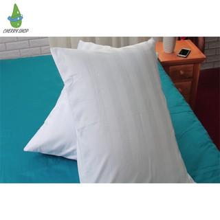 👋 Mua Ngay 👋 Vỏ gối hay bọc gối cotton trắng sọc đủ size cho gia đình & khách sạn size: 40×60, 50×70, 35×100 giá sỉ