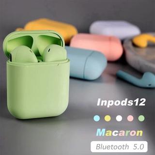 Tai nghe Inpods I12 TWS kết nối bluetooth 5.0 mini chất lượng cao điều khiển âm thanh cảm biến Tai nghe Bluetooth cho iPhone và Android