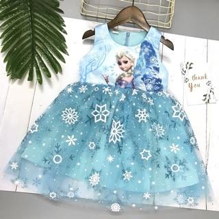 Váy công chúa elsa cho bé gái