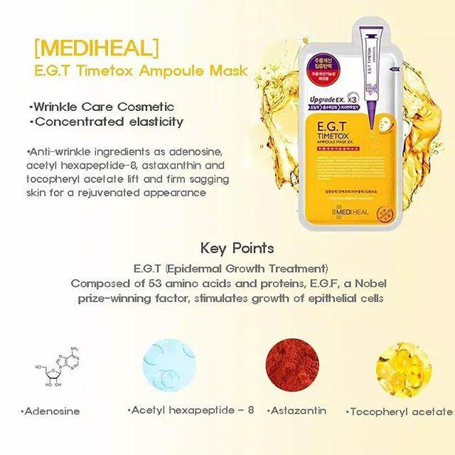 Mặt nạ giấy cấp ẩm, dưỡng trắng, làm dịu da, loại bỏ bã nhờn và cung cấp dưỡng chất cho da Mediheal Mask EX 25ml