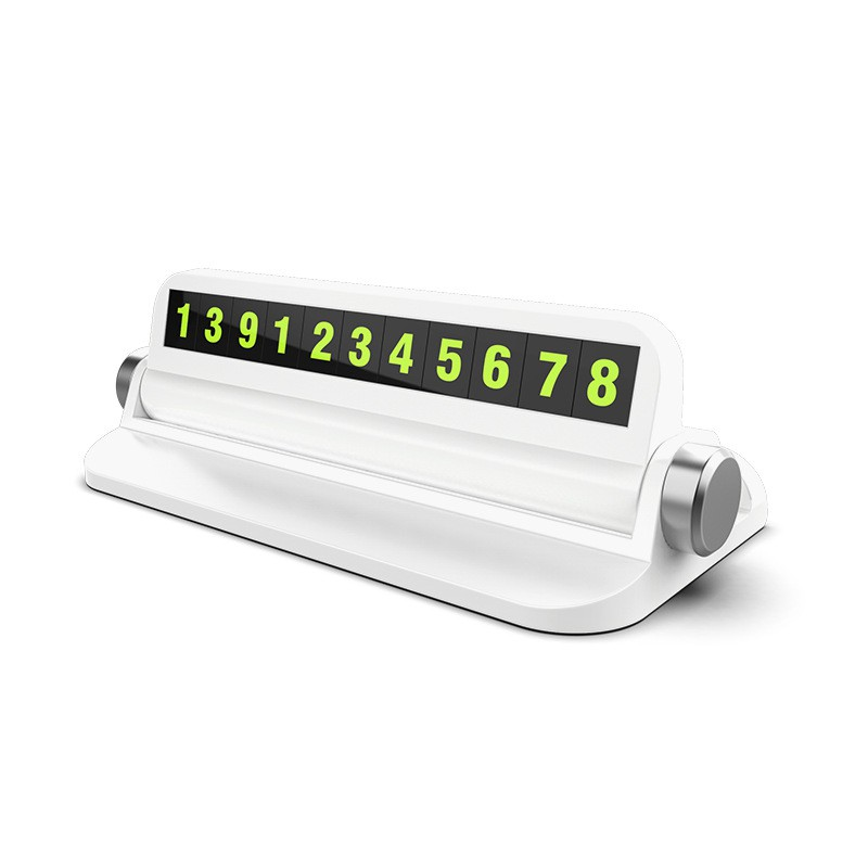[Xả Kho + Thanh Lý] Bảng số điện thoại gắn táp lô ô tô kiêm giá để điện thoại - BS02