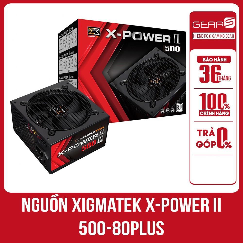 [Mã ELCLXU8 hoàn 8% xu đơn 500K] Nguồn Xigmatek X-POWER II 500-80PLUS Hàng Mai Hoàng Bảo Hành 36 T