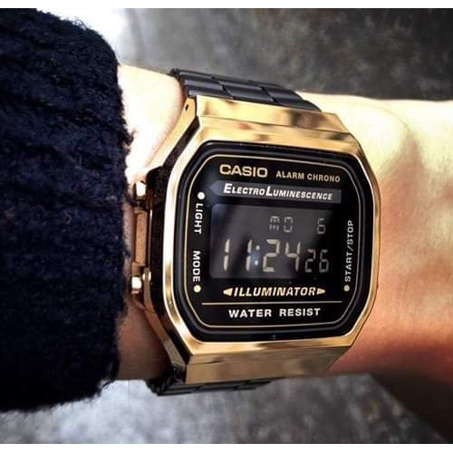 Đồng hồ điện tử unisex Casio A168 classic