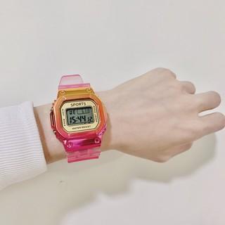 Đồng hồ thể thao điện tử nữ Sports shhors Sp04 dây trong cực hot, cực cá tính, đầy đủ chức năng, đèn led