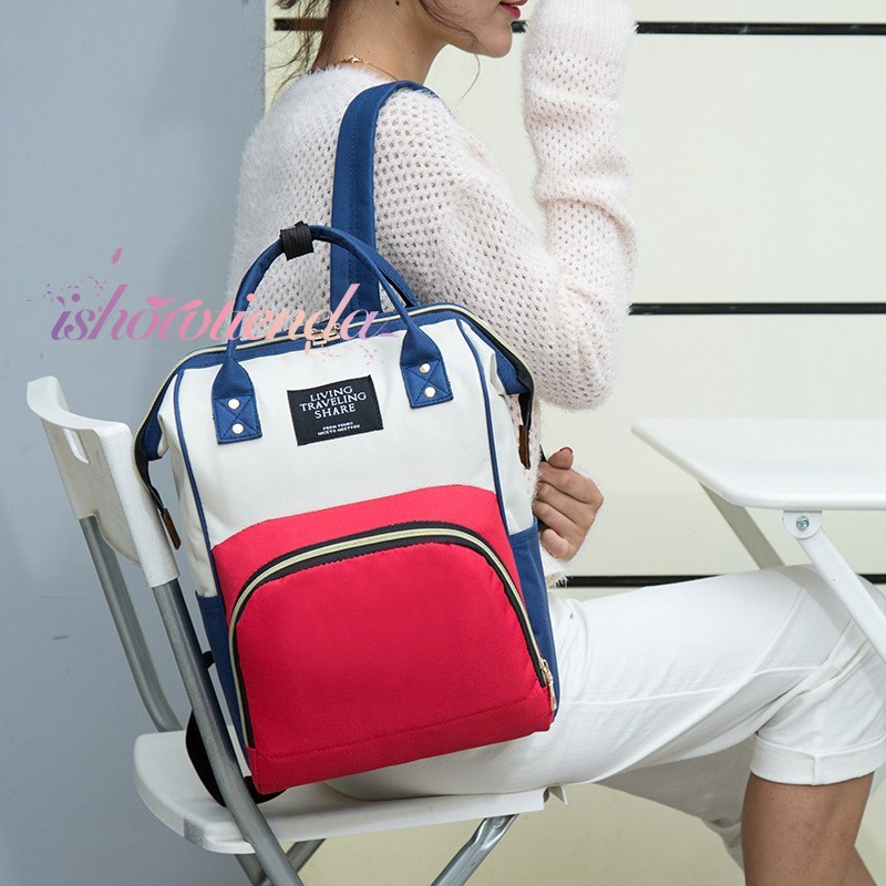 ishow Ready stock Double shoulder multi-function Mummy bag