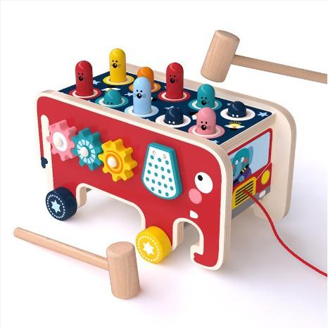 Đập chuột gỗ - Bộ đồ chơi giáo dục giúp phát triển trí tuệ cho bé