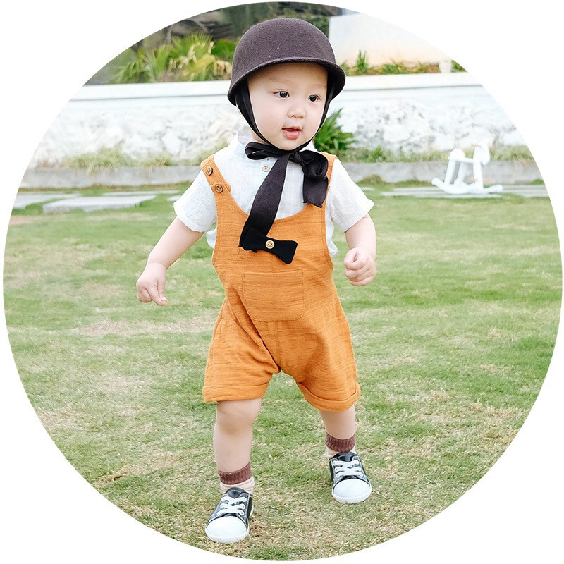 Set đua ngựa (Cam) - Set đồ bé trai - Quần áo bé trai