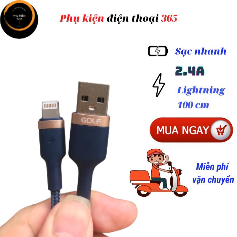 Dây cáp sạc iphone, dây sạc iphone chính hãng Golf, dây sạc iphone giá rẻ, dây sạc nhanh iphone, dây sạc lightning.