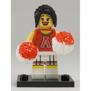 (Like new) Nhân vật Red Cheerleader – Lego Minifigures Series 8