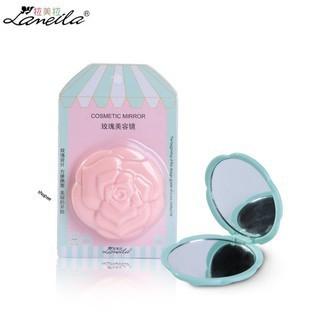Gương cầm tay hoa hồng Lameila 2 mặt rẻ như cho sale sập sàn thumbnail