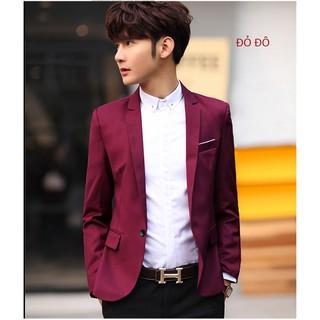 Áo khoác giả vest nam body trẻ trung viền trắng túi ngực nhiều màu năng động