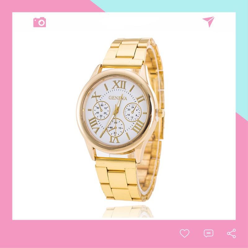 Đồng hồ nam nữ thời trang Geneva dây kim loại cực đẹp DH98