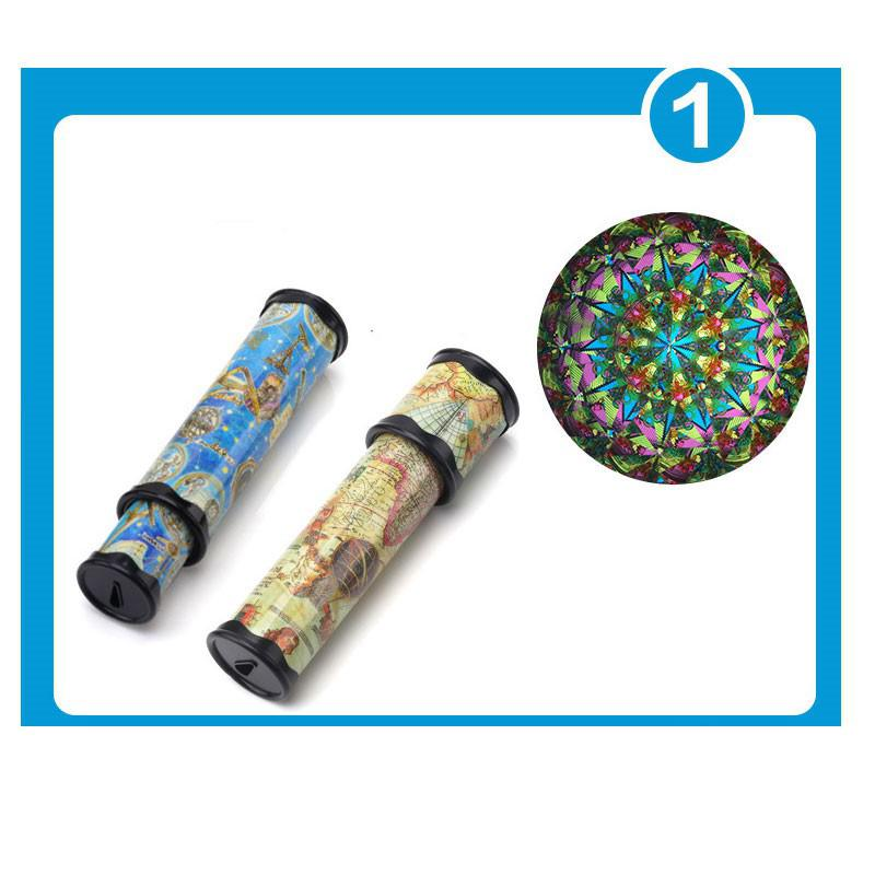1 Pc Kaleidoscope Rotation Colorful Sight Educational Toys Random Color