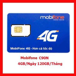 { Có Sẵn Tháng Đầu } Sim 4G Mobifone C90N tặng 4GB/ngày 120GB/tháng – Đầu số 07