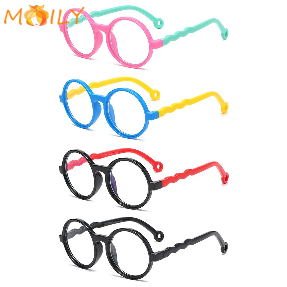 MOILY Age 3-10 Blue Light Glasses for Kids Soft TV Phone Glasses Blue Light Blocking Glasses Anti-eyestrain UV400 Protection Silicone...