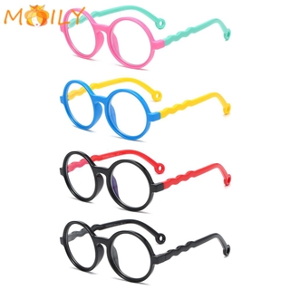MOILY Age 3-10 Blue Light Glasses for Kids Soft TV Phone Glasses Blue Light Blocking Glasses Anti-eyestrain UV400 Protection Silicone Frame for Boys Girls Computer Gaming Glasses