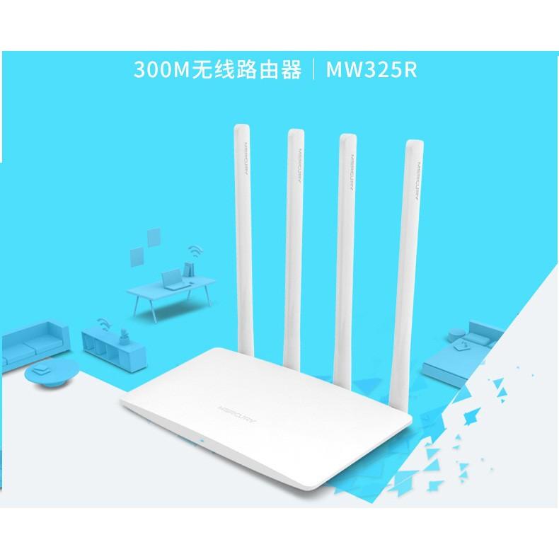 Bộ phát(kích) sóng wifi mercuy MW325R 4 Râu- phiên bản 2018 Giá chỉ 242.000₫