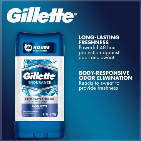 Lăn Khử Mùi Gillette Endurance Cool Wave Clear Gel USA 107g - 14647463 , 743935552 , 322_743935552 , 130000 , Lan-Khu-Mui-Gillette-Endurance-Cool-Wave-Clear-Gel-USA-107g-322_743935552 , shopee.vn , Lăn Khử Mùi Gillette Endurance Cool Wave Clear Gel USA 107g