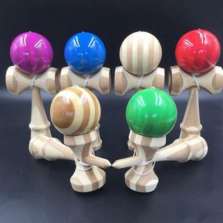 LOVEU* 1 Pcs Jumbo Kendama Japanese Traditional Game Educational Skillful Wooden Toy