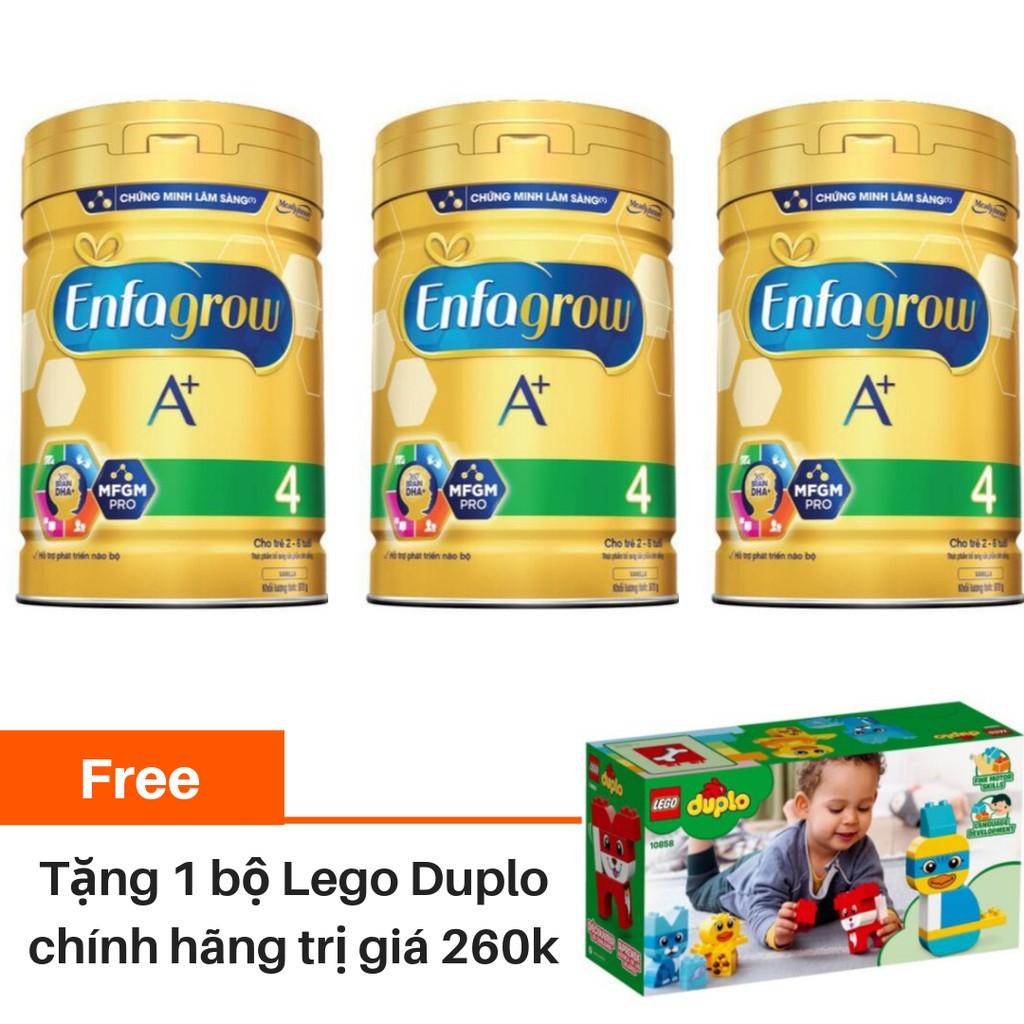 [Tặng mô hình Lego Duplo Thú cưng] Combo 3 lon Sữa bột Enfagrow A + 4 870g/lon