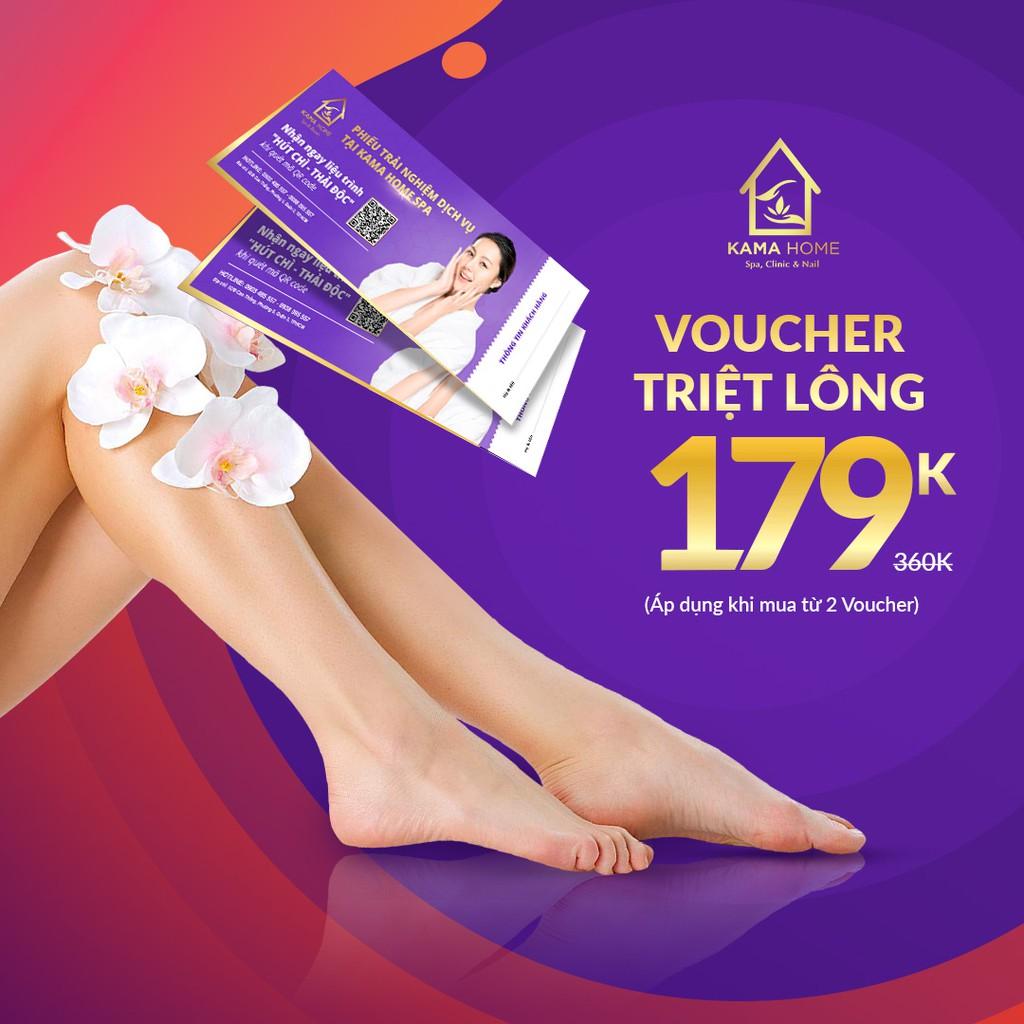 Hồ Chí Minh [Voucher giấy] Triệt Lông Vĩnh Viễn Opt công nghệ mới nhất 2019 (14 Lần) Tại Kama Home Spa