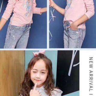 Áo phông bé gái tay dài ren vai Sofia