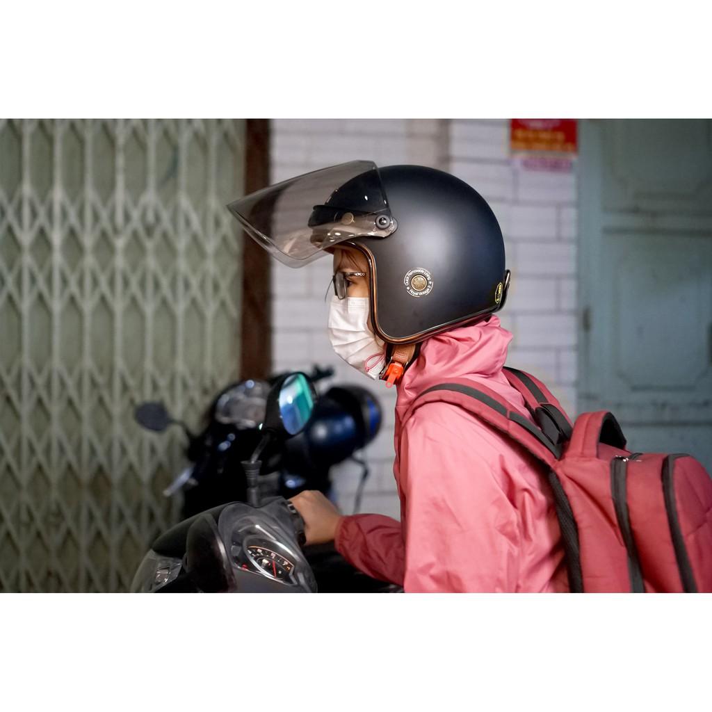 MŨ BẢO HIỂM 3/4 ROYAL M20C CHÍNH HÃNG KÈM TÚI ĐỰNG NÓN VÀ HỘP