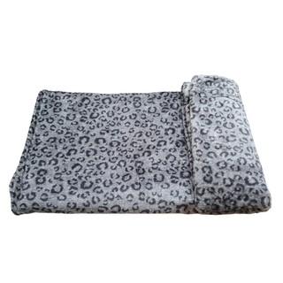 Mền lông cừu Thái BEO XÁM - hình 2