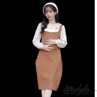 MEDYLA - Váy bầu len thu đông công sở cho mẹ bầu mặc cả trong và sau sinh - VM008 thumbnail