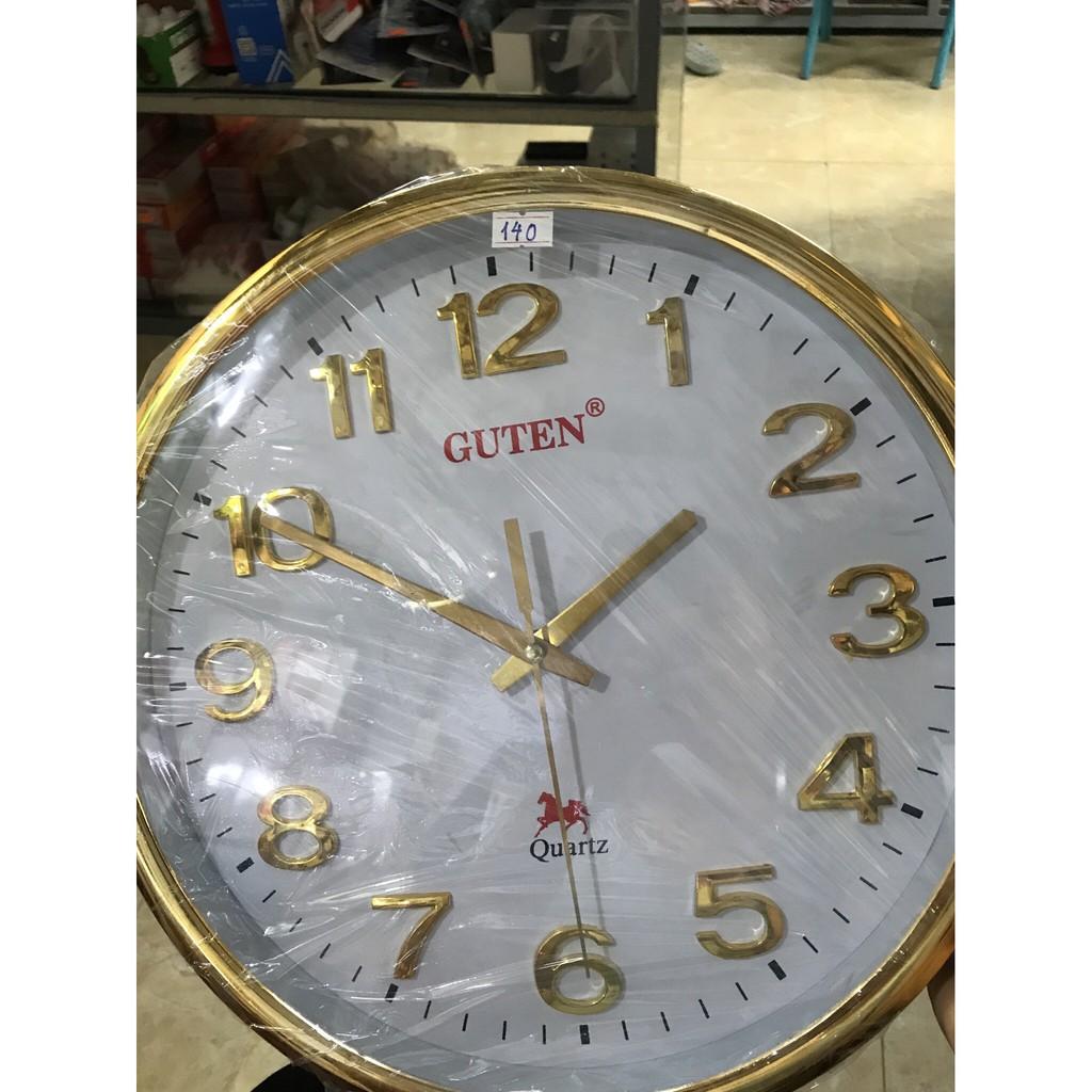 Đồng hồ treo tường tròn Guten M3288 Viền vàng
