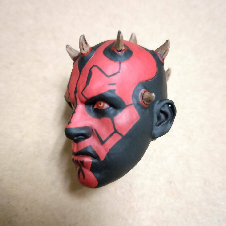 "1//6 Star Wars Darth Maul Carved Head Sculpt Model F 12/"" Male Action Figure Body"