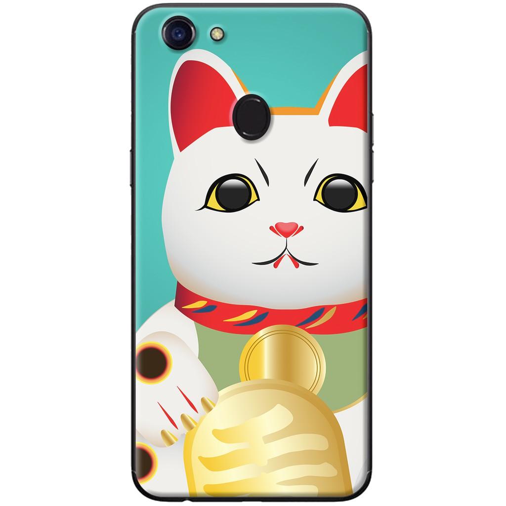 Ốp lưng OPPO F5 - nhựa dẻo Mèo thần tài tinh thông