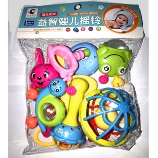 Bộ đồ chơi Lục Lạc xúc xắc 8 chi tiết cao cấp cho Bé