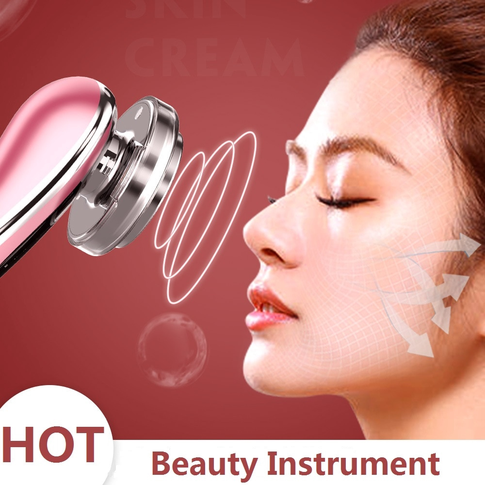 EMS Beauty Instrument LED Photon Skin Care Tool Radio Frequency Face Lift Massage Facial Cleaning Device Machine