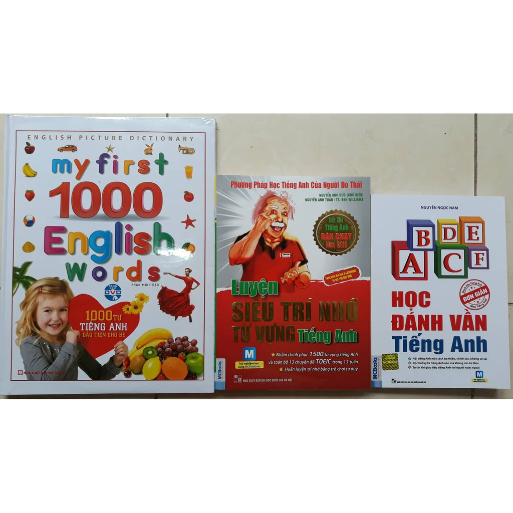 Sách - Combo My First 1000 English Words + Học đánh vần tiếng Anh + Luyện siêu trí nhớ từ vựng tiếng - 3063947 , 961497215 , 322_961497215 , 463000 , Sach-Combo-My-First-1000-English-Words-Hoc-danh-van-tieng-Anh-Luyen-sieu-tri-nho-tu-vung-tieng-322_961497215 , shopee.vn , Sách - Combo My First 1000 English Words + Học đánh vần tiếng Anh + Luyện siêu t