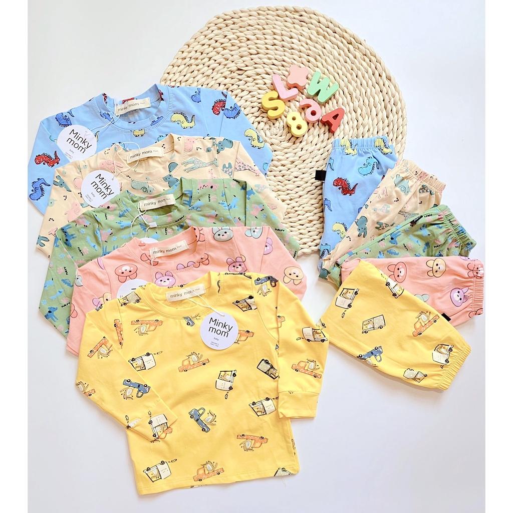 Bộ quần áo trẻ em thun lạnh cao cấp QATE600 cho bé trai và bé gái