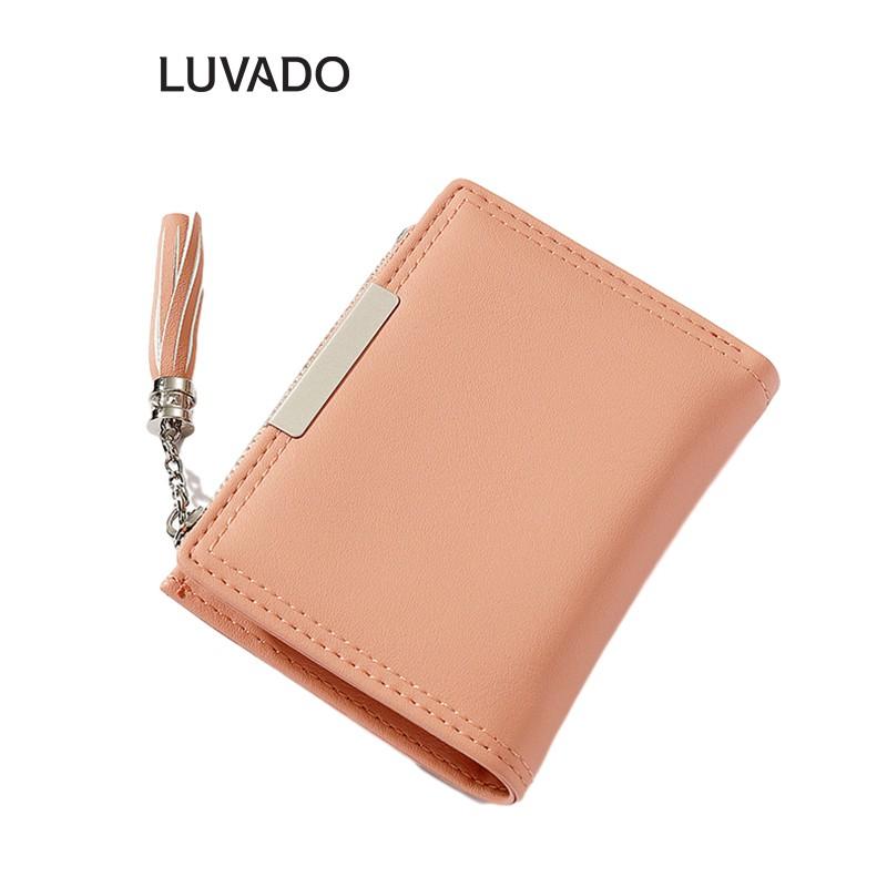 Ví nữ cao cấp TAOMICMIC cầm tay mini thời trang nhỏ gọn nhiều ngăn đẹp LUVADO VD382
