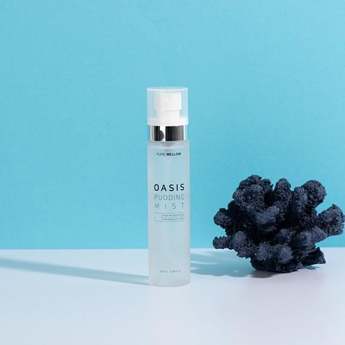 Xịt khoáng phun sương Oasis Pudding Mist Pure Mellow nhập khẩu chính hãng Hàn Quốc 100ml