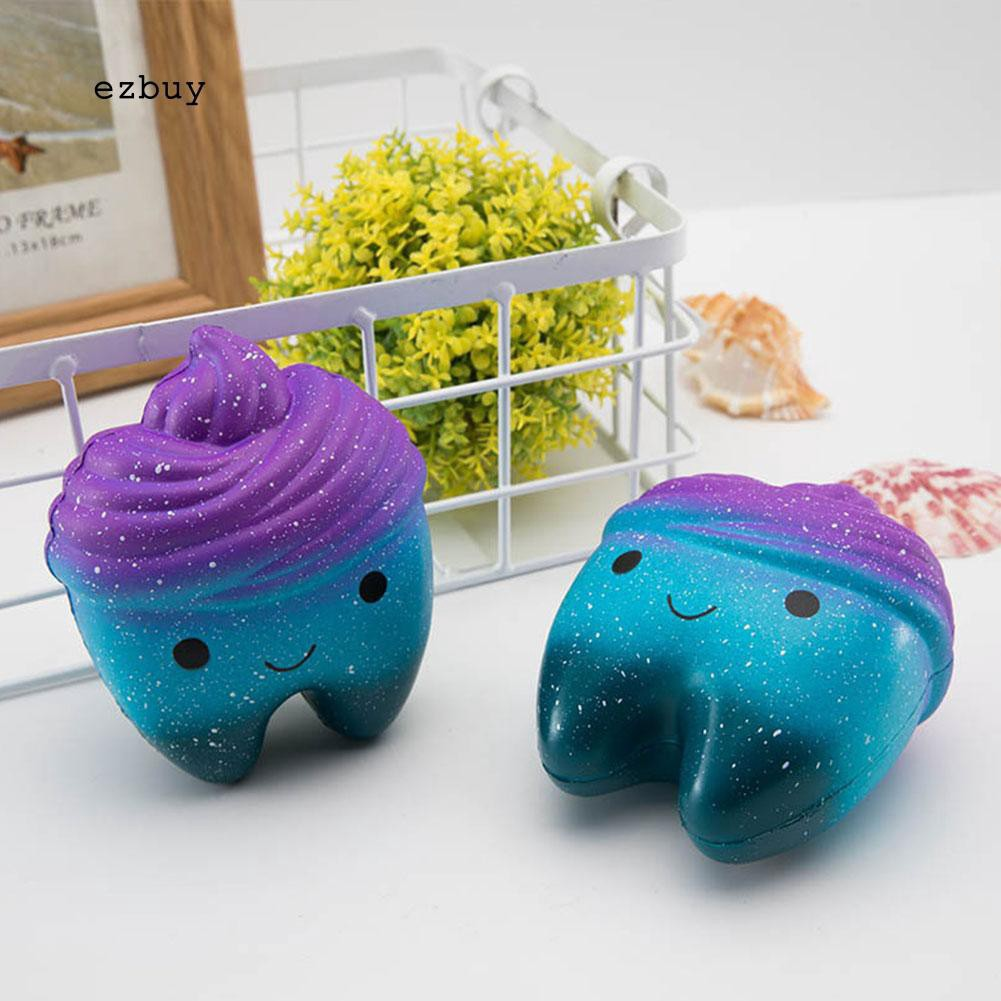 【EY】Cute Colorful Tooth Squishy Slow Rising Squeeze Stress Reliever Toy Kid Gift WHENGFENG