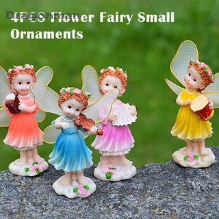 Mini Flower Fairy Ornaments Small Resin Ornament Statues for Car Home Decoration