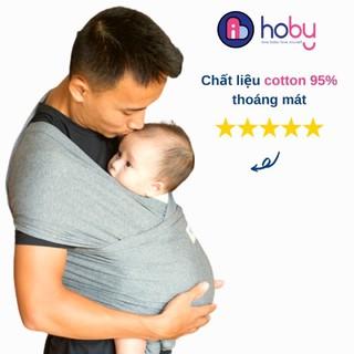 [Chính Hãng] Địu vải cho trẻ sơ sinh Hoby Wrap – Địu em bé sling bằng vải cotton, không gây kích ứng, chịu lực 3-14kg