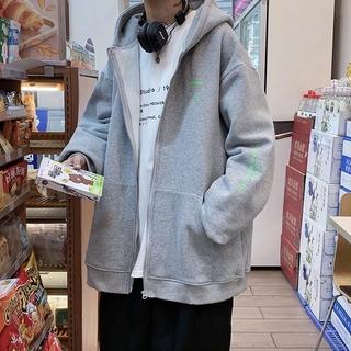 Áo Khoác Cardigan Có Mũ Trùm Đầu Dáng Rộng In Biểu Tượng Toán Học Thời Trang Mùa Đông Cho Nam Giới Size M-3xl