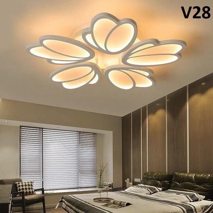 ĐÈN LED Ốp Trần Trang Trí Phòng Khách, Đèn Mâm Ốp Nổi Trang Trí Phòng Khách Phòng Ngủ 3 chế độ sáng Cao Cấp